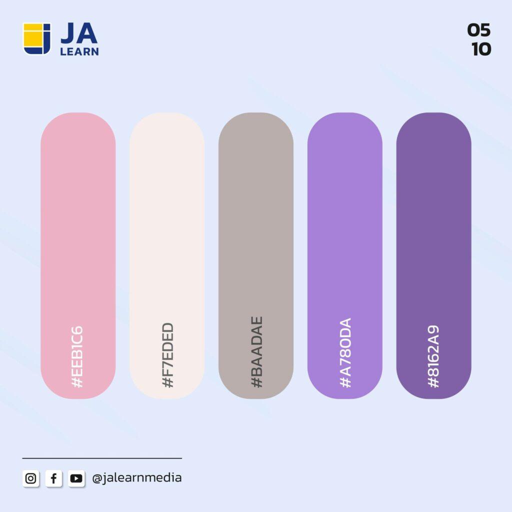 โทนสีม่วงน่าใช้ - JaLearn